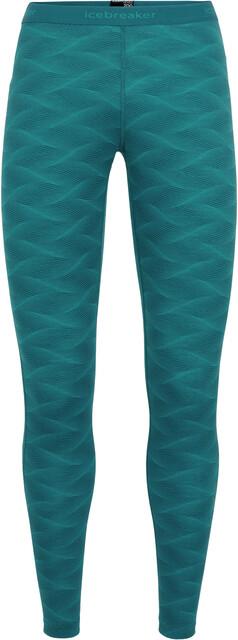 Icebreaker W's 200 Oasis Curve Leggings Kingfisher/Arctic Teal